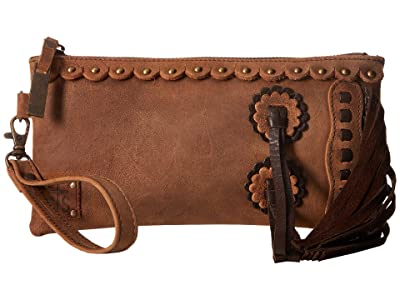 STS Ranchwear Chaps Clutch (Tornado Brown) Clutch Handbags