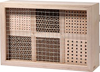 Profi-Tipp dobar 28410e Großes Profi-Insektenhotel, 6-teilige Nisthilfe für Wildbienen mit Schutzrahmen, 45 x 15 x 31 cm, Natur