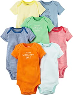 Carter's Baby Boys' 7 Pack Bodysuits (Baby) - Assorted Stripe