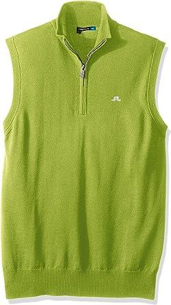 J.LINDEBERG Mens 66MG710017138 Men's EDI Tour Merino Vest Golf Shirt