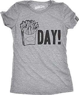 Womens Fry Day Tshirt Funny Fast Food French Fry Weekend TGIF Tee