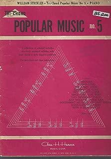 Tri Chord Popular Music No. 5 (Easy Piano)