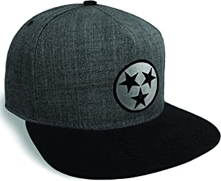 Strange Cargo Tennessee Flag Charcoal Black Flat Brim Cap Hat Snapback Adjustable