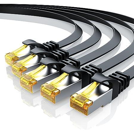5 X 0 5m Cat 7 Netzwerkkabel Flach Ethernet Kabel Gigabit Lan 10 Gbit S Patchkabel Flachbandkabel Verlegekabel Cat 7 Rohkabel U Ftp Pimf Schirmung Mit Rj 45 Stecker Switch Router Modem Elektronik