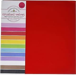 DOODLEBUG SPVP-3843 Specialty Cardstock, 12 by 12-Inch, Flocked Crushed Velvet, 12-Pack