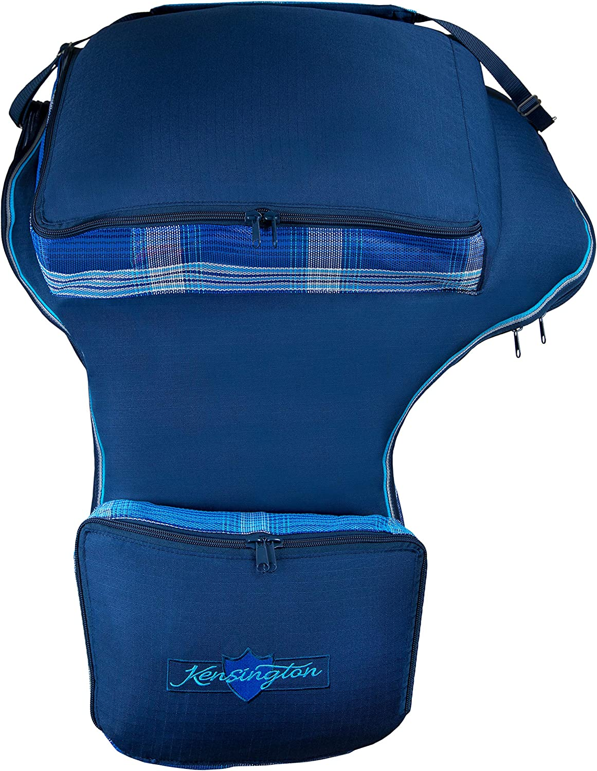 Kensington Western Saddle Carry Bag /— Protection for Biggest of Saddles /— Extra Side Pockets and One Large Pocket on Top for Storage /— Mesh Allows Airflow and Prevents Mold and Mildew