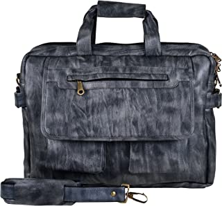 Jocose Synthetic Leather 22 Ltr Black Laptop Briefcase