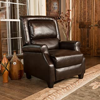 Christopher Knight Home 295890 Montana Brown Bonded Leather Arm Chair Recliner