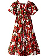 Dolce & Gabbana Kids - Popeline St. Peonie Dress (Toddler/Little Kids/Big Kids)
