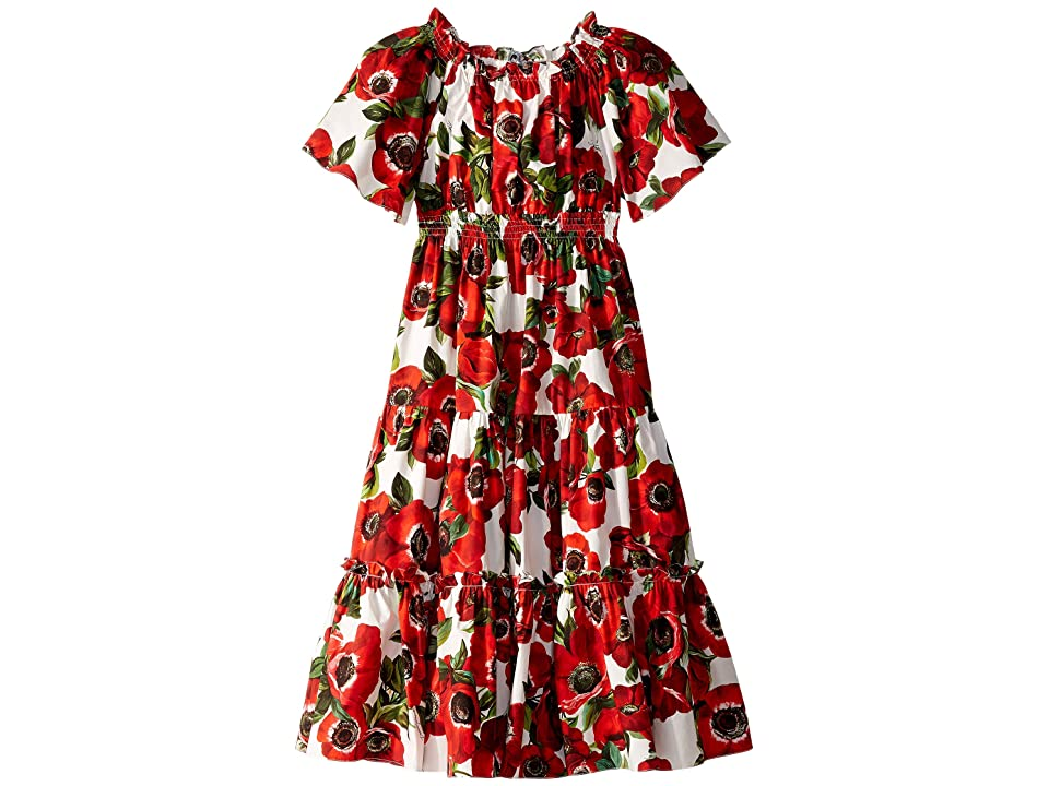 Dolce & Gabbana Kids Popeline St. Peonie Dress (Toddler/Little Kids/Big Kids) (Peonia Rose Multi) Girl