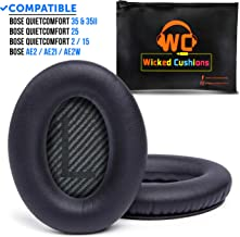 WC Premium Replacement Ear Pads for Bose Headphones Made by Wicked Cushions –..