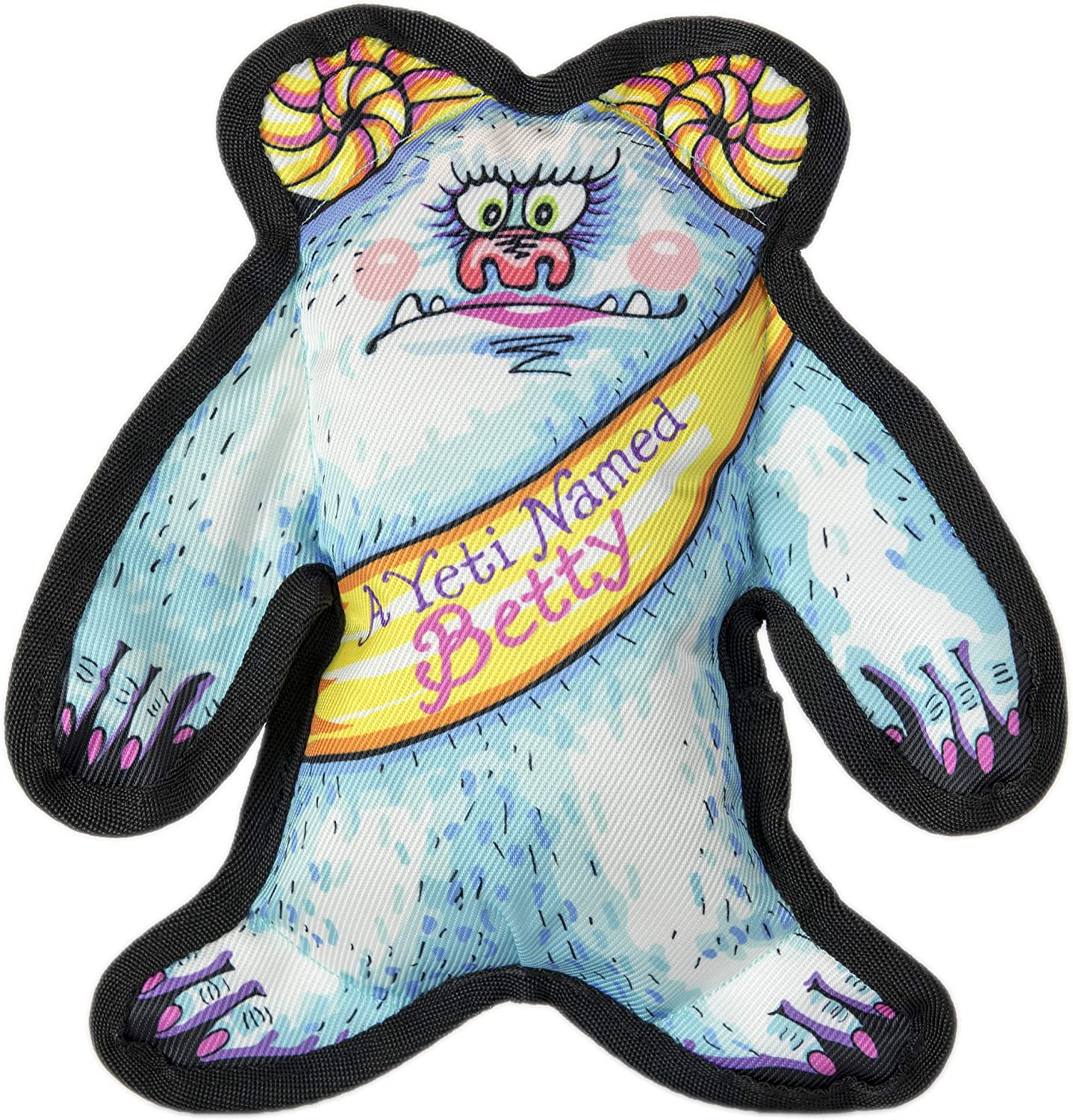 FUZZU Wild Woodies Dog Toy with Squeaker  A Yeti Named Betty