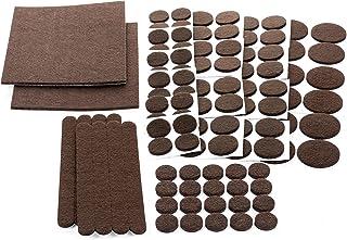 Floor Effects Felt Pads, Heavy Duty Adhesive Furniture Pads - Floor Protector for Tiled, Laminate, Wood Flooring - 123 Pie...