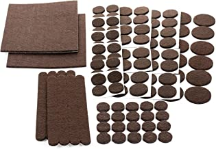 Floor Effects Felt Pads, Heavy Duty Adhesive Furniture Pads - Floor Protector for Tiled, Laminate, Wood Flooring - 123 Pie...