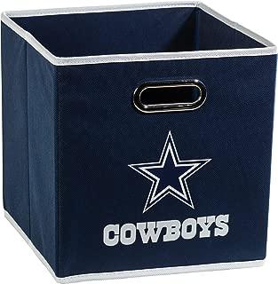 Franklin Sports NFL Team Fabric Storage Cubes - Made To Fit Storage Bin Organizers (11x10.5x10.5