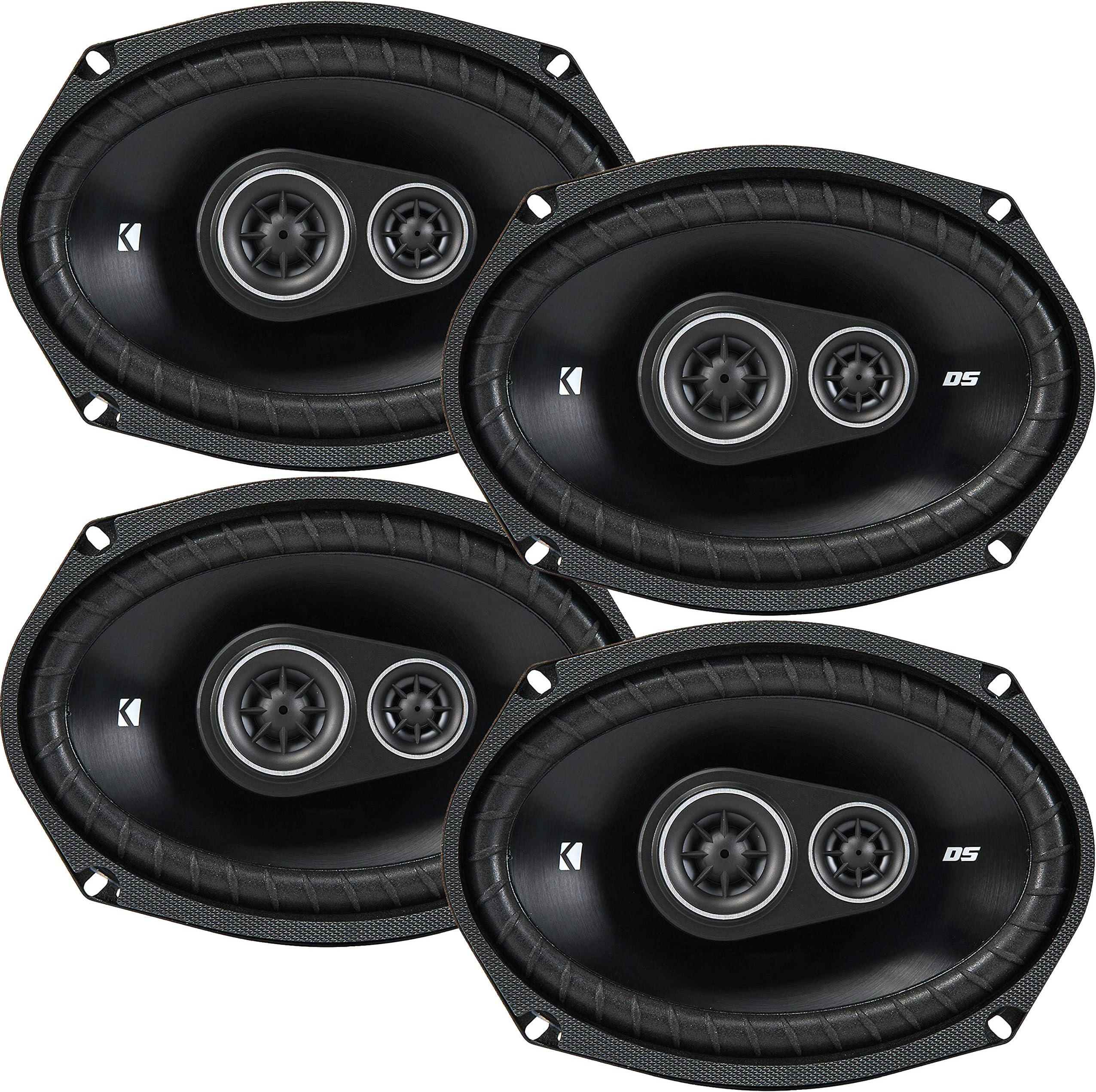4 New Kicker DSC69 D-Series 6x9 720 Watt 3-Way Car Audio Coaxial Speakers - Grills Included