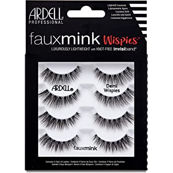 Ardell False Lashes Faux Mink Demi Wispies Multipack, 1 pk x 4 pairs