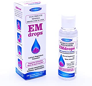 Sponsored Ad - Electrolyte Drops for Water, 600 Servings! Hydration Supplement EMDROPS for Bone & Heart Health, Leg Cramps...