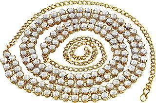 MEENAZ Stylish Traditional Jewellery Gold Kundan Wedding Saree Waist Belly Chain/Kamarbandh Kamarband for Women Girls Wedd...