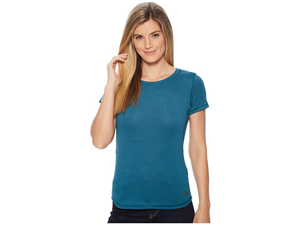 The North Face Short Sleeve Shade Me Shirt (Blue Coral Heather) Women