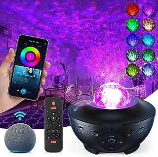 ویدئو پروژکتور گلکسی پروژکتور با بلندگوی موسیقی ، پروژکتور ستاره نور برای اتاق خواب با تایمر ، 10 جلوه رنگ قابل تنظیم ، با برنامه تلفن کار می کند ، الکسا