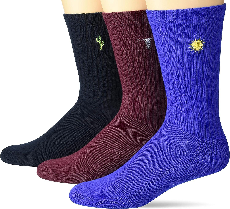 Goodthreads Men's 3-Pack Ribbed Crew Sock