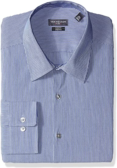 Van Heusen Mens Dress Shirt Flex Collar Slim Fit Stretch ...