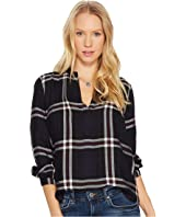 Lucky Brand - Plaid Peasant Top