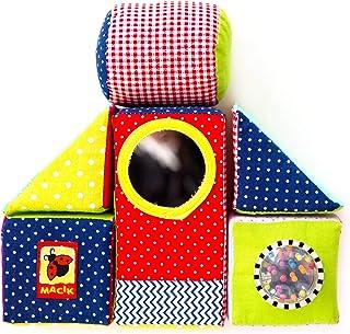 MACIK Cubes Mousse Enfants – Cubes à empiler bébé – Jouet éveil bébé – Cube développement motricité – Jouets bébé 6 Mois c...