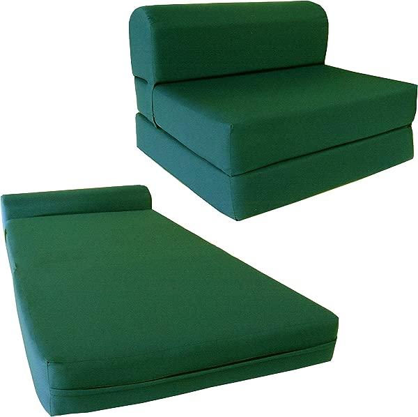 椅子折叠泡沫床工作室沙发客人折叠泡沫床垫 6X24X70 亨特格林