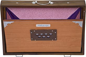 Shruti Box, Maharaja Musicals, Shruthi Box, Large 16x12x3 Inches, Sur Peti Surpeti, With Bag, Natural Color, Musical Instrument Indian (PDI-EFE)