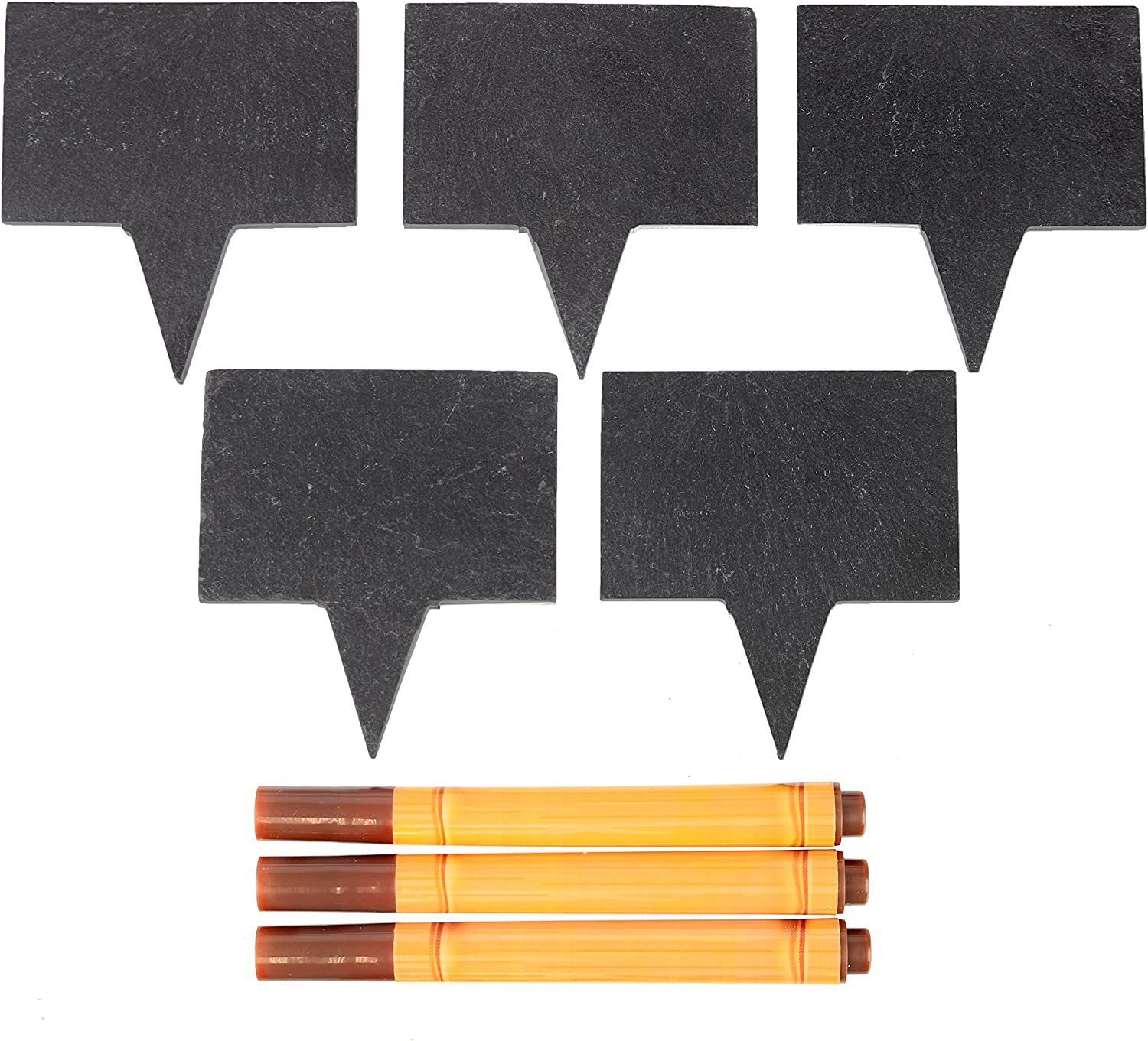 Food-Grade Max 72% OFF Slate Labels with Markers Natural 5 Boards Max 45% OFF - An