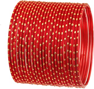 Touchstone Colorful 2 Dozen Bangle Collection Indian Bollywood Alloy Metal Textured Designer Jewelry Special Large Size Ba...