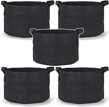 247Garden 5-Pack 30 Gallon Grow Bags/Aeration Fabric Pots w/Handles (Black)
