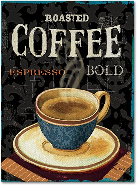 Amazon Com Today S Coffee Iv Wall Decor By Lisa Audit 35 By 47 Canvas Wall Art Posters Prints