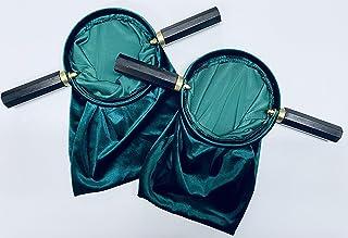 JWG Industries Velveteen Green Church Religious Offering Bag Pouch, Set of 2