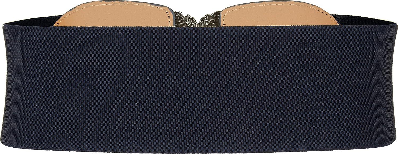 BlackButterfly 3 Zoll Breit Korsett Elastische Vintage Taillengürtel Nachtblau