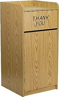 Flash Furniture Wood Tray Top Receptacle in Oak