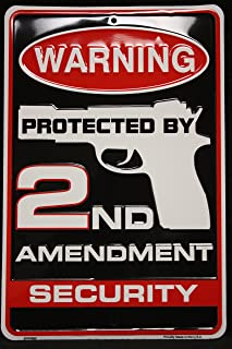Best protected by second amendment security sign Reviews