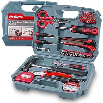 Hi-Spec Pequeño Juego de Herramientas Esenciales para Reparaciones del Hogar, 39 en uno, Color Rojo: Amazon.es: Bricolaje y herramientas