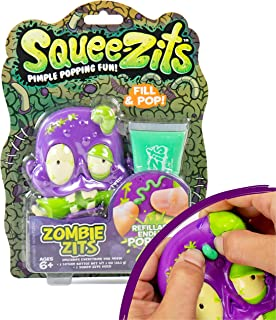 SqueeZits Zombie Zits Pimple Popping Toy by Horizon Group USA, Stress Relief Pimple Popping, Squeeze Acne Refillable Toy, Zombie, One Size, Multicolor