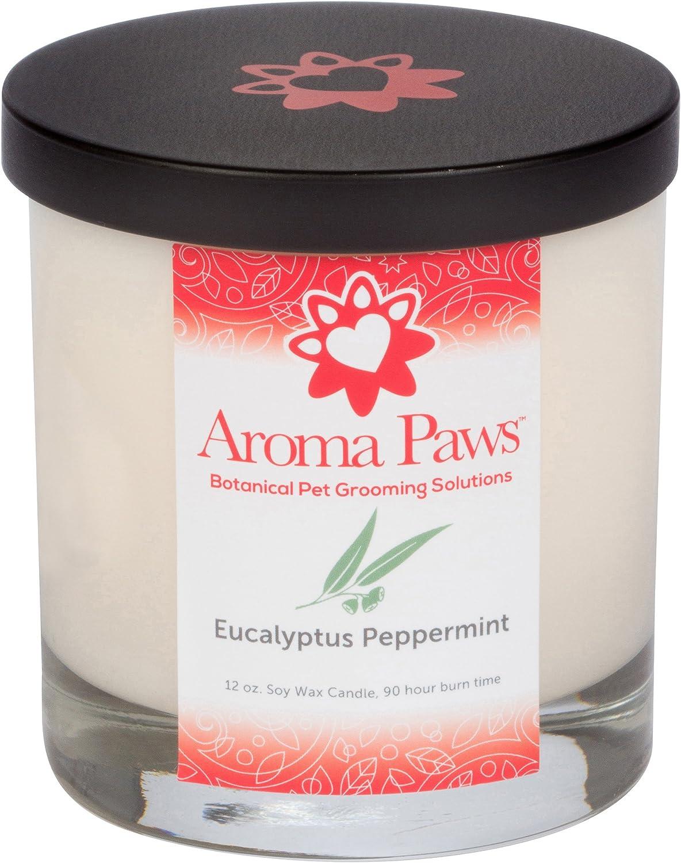 Aroma Paws Eucalyptus Peppermint Candle, 12 oz