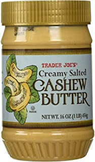 Trader Joes Creamy Salted Cashew Butter