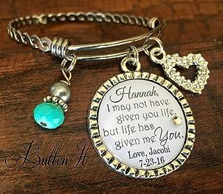 Step daughter gift, PERSONALIZED wedding gift, Personalized bracelet, WEDDING jewelry, step daughter wedding gift, step da...