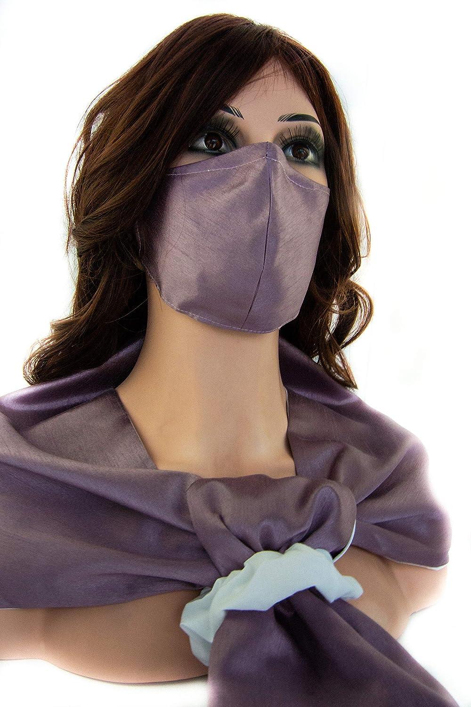 Handmade Luxiourious Silky Mauve 4 pc High order Ear saver scarf Mask Sc Max 57% OFF