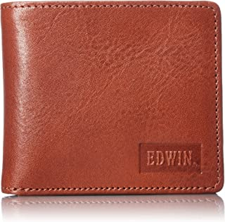[エドウィン] 二つ折財布 イタリアンレザー エンボス 紙幣収納 小銭収納 カードポケット 22219021