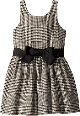 Glen Plaid Cotton Dress (Toddler)