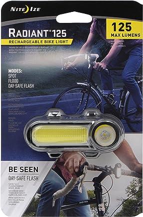 Nite IZE - Luz para Bicicleta (Recargable, Radiante, 125), Color Rojo