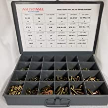 Grade 8 Course Thread Nut Bolt Washer Drawer Assortment Over 1250 Pieces | Yellow Zinc Plated