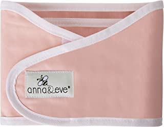 Anna & Eve - Baby Swaddle Strap, Adjustable Arms Only Wrap for Safe Sleeping - Pink, Small